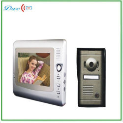 Cor do Fio de 7 Polegadas Villa Vídeo porteiro telefone com câmera Coms v7c-P1 Sistema de interfone