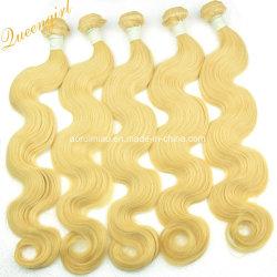 Mode bon marché de gros de matières humaines hair extension 613# Remy blonde cheveux vierges de Malaisie