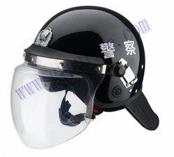 警察の明確なポリカーボネートのバイザーが付いている軍の反暴動のヘルメット