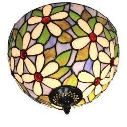 12インチのTiffany様式の天井ランプのTiffanyの寝室の天井灯のフラッシュ台紙の天井灯