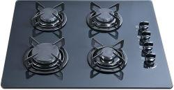 vidro temperado construído em 4 fogão a gás do queimador, Fogão a Gáz