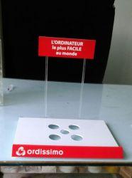 Bespoken acrylique Coumpter personnelle d'affichage, Support d'écran pour ordinateur portable, ordinateur portable Rack