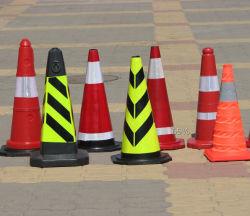 Pp & segno riflettente del cono della carreggiata di traffico d'avvertimento di gomma della funzione