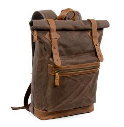 Disegno della fabbrica della borsa nuovo zaino esterno Rainproof della tela di canapa del sacchetto dalle 16 once per gli uomini