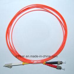 LC/PC-ST/PC mm cordon de raccordement à fibre optique duplex