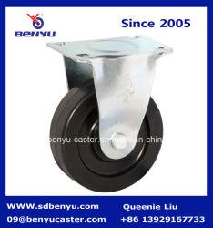 中型の義務の堅い足車の帯電防止黒い車輪