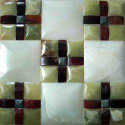 اللون الأخضر طبيعيّ, [بروون], بيضاء عقيق فسيفساء حجارة