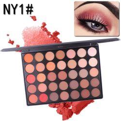 لون ماكياج المسحوق ومستحضرات التجميل المضادة للماء Eyeshadow Palette 35 لون