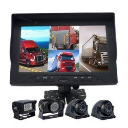 """Bus de 9"""" DE ALTA DEFINIÇÃO veículo automóvel Monitor de Ecrã Quádruplo, Assistente de estacionamento de caminhões de serviço pesado"""