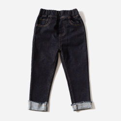 Tous les Noirs Hemming Unisex Kid Jeans denim de coton