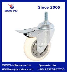 Металлические промышленные вилки самоустанавливающегося колеса с помощью тормоза винта
