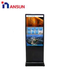 Trépied de sol de la publicité numérique Multi Media Player avec Android Win OS
