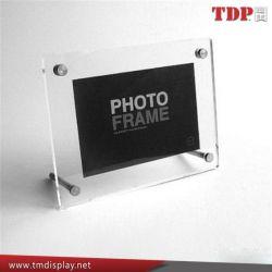 Cadre Photo en acrylique avec PMMA de l'aimant Cadre photo avec pieds métalliques