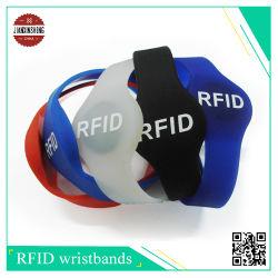 RFID bracelet en silicone avec différentes formes telles que la moitié de forme ronde