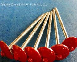 75mm 최신 판매 세탁기를 가진 반지 정강이를 가진 빨간 우산 헤드 루핑 나사 못
