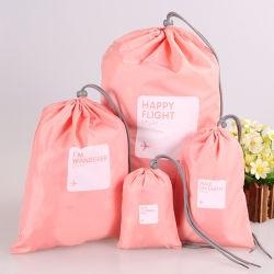 4팩 방수 드로스트링 가방 대형 여행용 의류 보관 공간 Bag Sport 가정용 여행용 보관 용품 사용