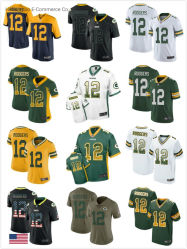 OEM Packers Moisture-Wicking Polyester a. Rodgers Football tee-shirts personnalisés