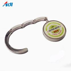 Aleación de zinc portátil Bolso Bolso Porta Gancho colgador de Bolso plegable de metal personalizados