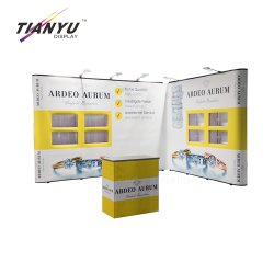 Pvc en Textile Back Drop Photo Display 3D Design Lightweight Pop op Stand.