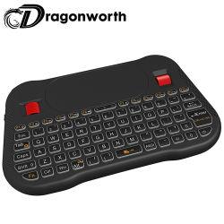 جديدة [مولتي-لنغج] موقع [ت18] [2.4غز] ذكيّ فأرة عجلة درجة تحكم حرّة مصغّرة لاسلكيّة لوحة مفاتيح [تووشبد] جهاز تحكّم عن بعد لوحة مفاتيح