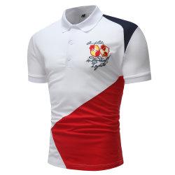 2019 hochwertiger Mann-Polo-Shirt-Entwurf, kundenspezifische Mens-Baumwollgolf-Polo-Großhandelshemden 100% mit Stickerei-Firmenzeichen