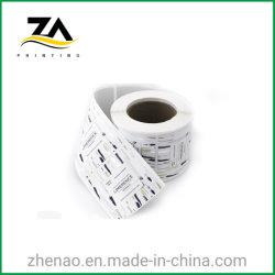 Contrassegno autoadesivo stampato trasparente di plastica di stampa del documento dell'autoadesivo del PVC