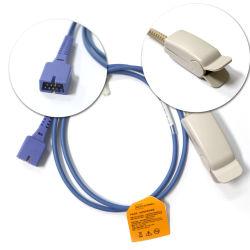 승인되는 Nellcor Oximax dB9 세륨과 호환이 되는 재사용할 수 있는 성숙한 핑거 클립 SpO2 센서