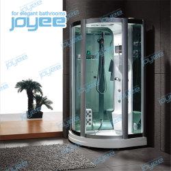 Joyee acrílico negro sala de vapor de la puerta de vidrio templado