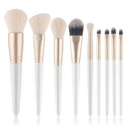 Лучший макияж набор щеток 9 ПК для лица и глаз, синтетические щетки для фундамента, порошок, окрашивание и косметики Eyeliner инструмент комплект щетки