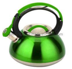 Gebürsteter Edelstahl Tea Kettle, 2.3-Quart, Green