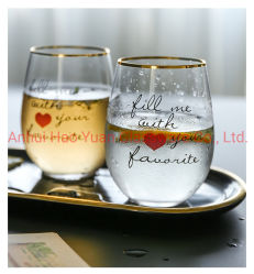 Вино Stemless бутылки стеклянные чашки,