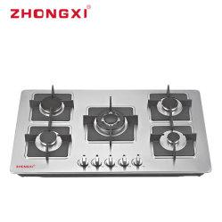 5 queimador fogão fogão Wok alumínio construído no fogão a gás[Jzq-B504]
