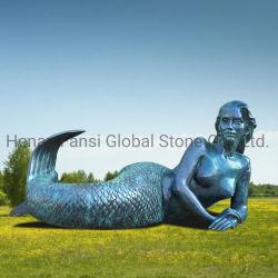 ホーム庭の装飾(GSBR-223)のための屋外の青銅色の人魚の彫像