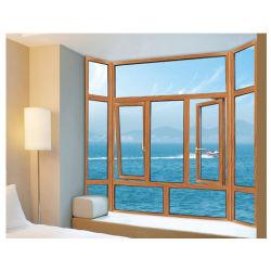 習慣は米国式デザインに緩和されたガラスの格子のアルミニウム開き窓のWindowsをする