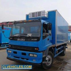 Isuzu Heavy Duty 4*2 15m3 de 6 a 20 toneladas de neumáticos de camión frigorífico de camiones refrigerados