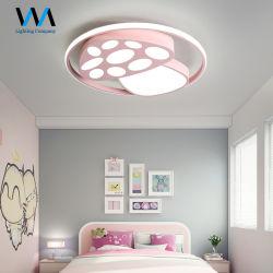 Forme de champignon coloré rose jaune bleu LED lampe de plafond pour les enfants de lumière