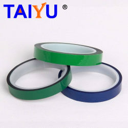 Nastro adesivo di mascheramento a temperatura elevata del silicone verde dell'animale domestico del poliestere