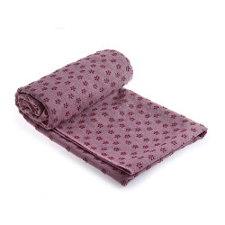 La micro fibra del campione libero non slitta a strati il tovagliolo di yoga della cialda della pinsa con il PUNTINO del PVC
