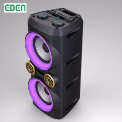 Portable sans fil rechargeable professionnel DJ Sound box de karaoké Trolley PA Le président ED-608 Bluetooth