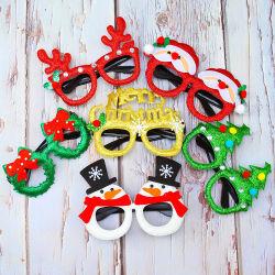 きらめきの衣裳の接眼レンズ党ガラスフレームのクリスマスはギフトを支持する