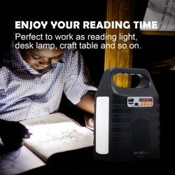 Lampade di lettura solari portatili del sistema LED di energia solare per la casa