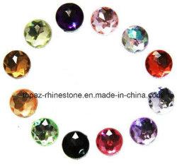 Ювелирные изделия Rhinestone Круглые плоские назад полимера со стразами 30мм акрилового волокна кристально чистый звук