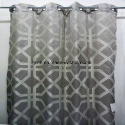 Жаккард тонкой черной и белой ткани шторки окна