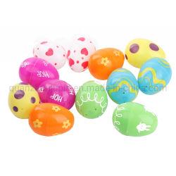 Plástico OEM impresso colorido Festival de Páscoa Egg