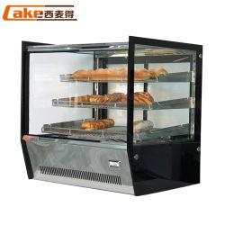 Le tableau haut de la nourriture chaude armoires d'affichage vitrine de réchauffement