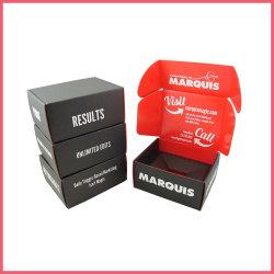 Logotipo personalizado de e-Commerce papel ondulado peruca calçado Vestuário Vinho Perfume Cosméticos Alimentar Mailer Subscrição de envio de correspondência de embalagem caixa de papelão da embalagem