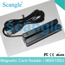 Mini beweglicher Magnetstreifenkarte-Leser der Spur-3 mit Doppel-Richtung Lesemöglichkeit