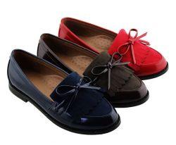 Trendy garçons étudiant européen uniforme Chaussures Chaussures enfants noirs de l'école