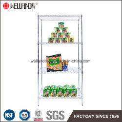 4 étagère épicerie en gros des aliments légers d'affichage Chrome Racks de rayonnages métalliques pour la vente