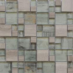 Dekorative Mosaik-Tischmuster Aus Marmor Und Glas Mit Transparentem Naturstein